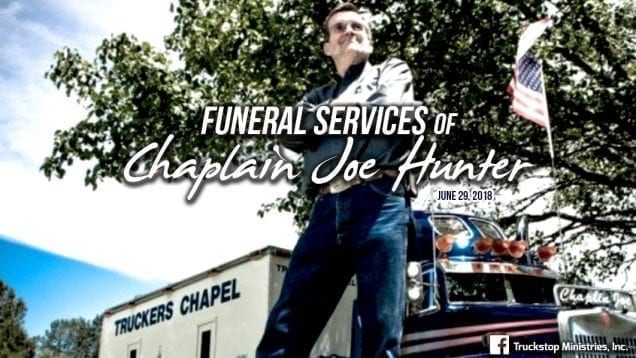 In God We Truck – Funeral Services of Chaplain Joe
