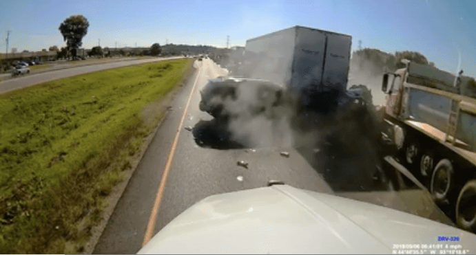 Dump Truck Driver Almost Kills Motorists In Horrifying Accident