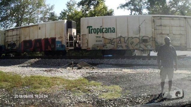 Two People Escape Stalled Big Rig Seconds Before Train Obliterates It