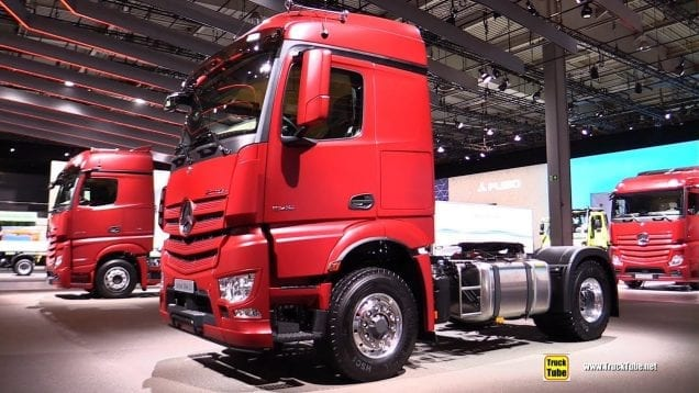 2019 Mercedes Actros 1846 LS 460hp Tractor – Exterior and Interior Walkaround – 2019 IAA Hannover