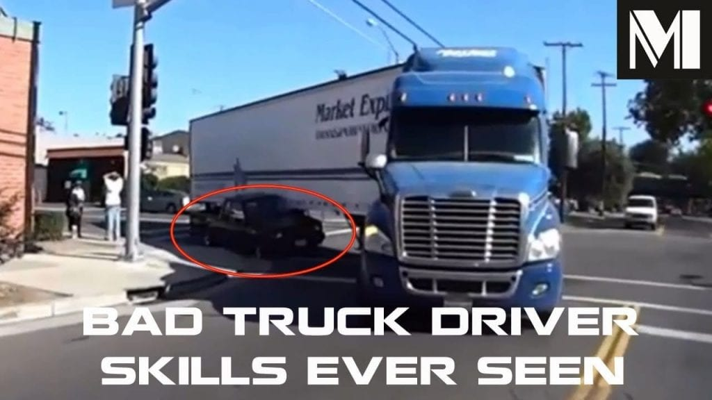Bad Truck Driver Skills Ever Seen Ultimate Semi Fail On The Street Compilation