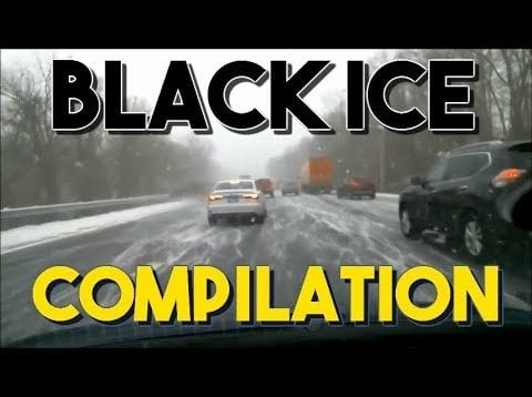 Black Ice Accidents Compilation #1