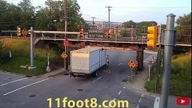 "Bridge Bashing Box Truck Smashes Into ""Low Clearance"" Overpass"