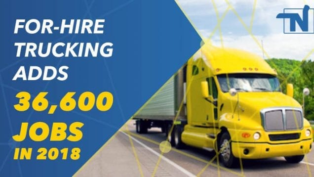 For Hire Trucking Ads 36k Jobs in 2018
