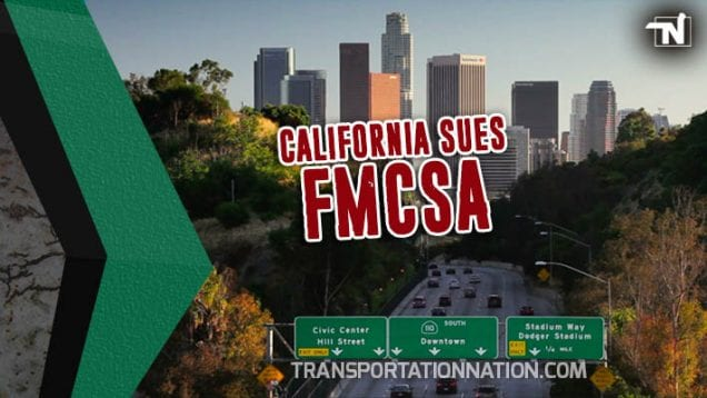 California Sues FMCSA