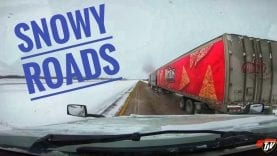 My Trucking Life | SNOW COVERED ROADS | #1636