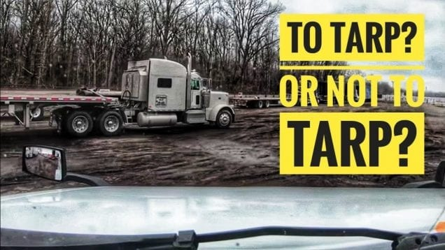 My Trucking Life | TO TARP, OR NOT TO TARP? | #1656