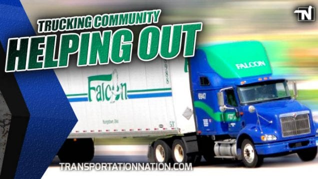 Falcon Transport – Trucking Community Helping Out