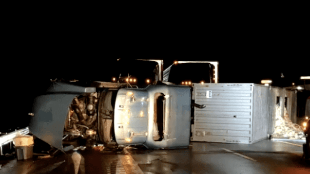 Steering Issue Leads To Semi Wreck in Ohio