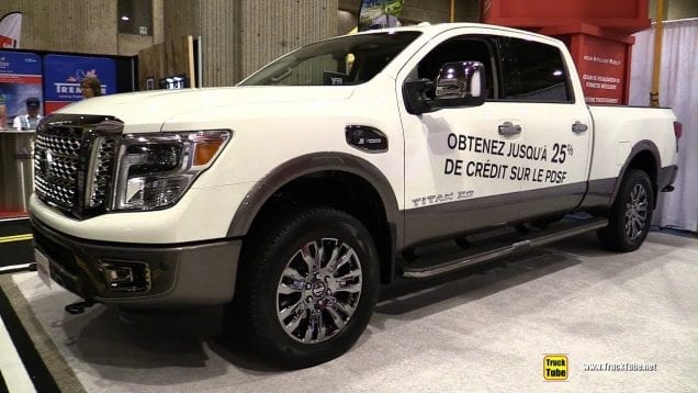 2019 Nissan Titan XD Platinum Diesel – Exterior and Interior Walk Around