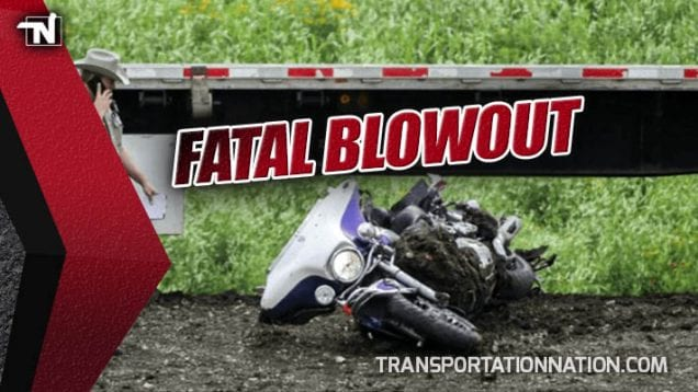 Fatal Blowout Motorcycle and Truck Accident