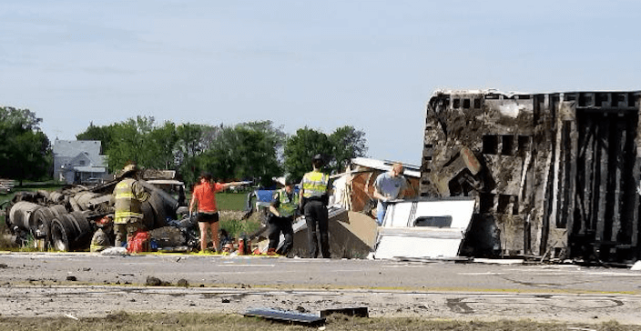 3 Dead Including Trucker In 6-Vehicle Crossover Accident