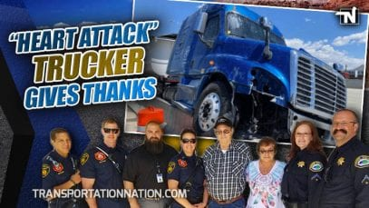 Trucker Who Had Heart Attack While Driving in Utah Gives Thanks