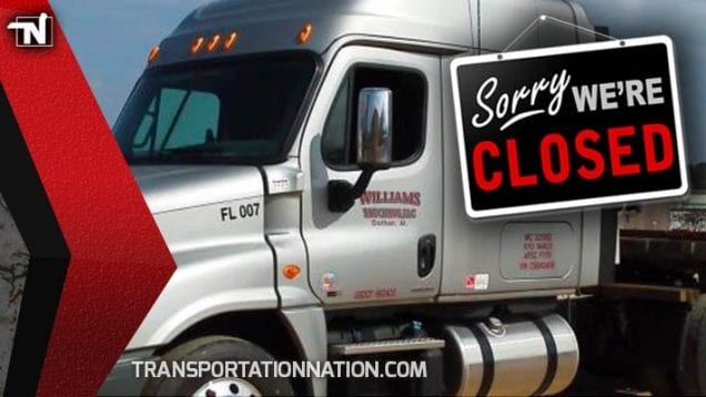 Williams Trucking CLOSED
