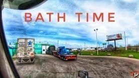 My Trucking Life | BATH TIME | #1706