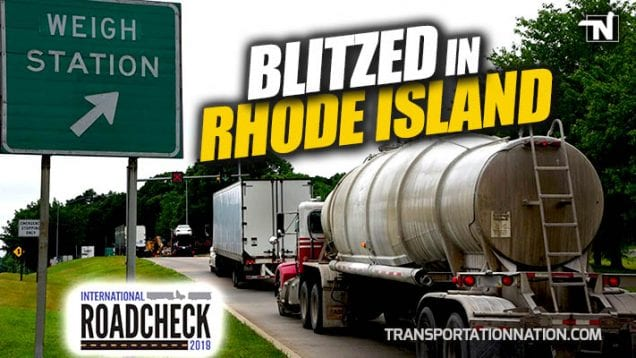 CVSA International Road Check 2019 – Blitzed in Rhode Island