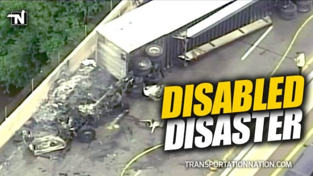 Disabled Disaster on I-94 in Ann Arbor, Michigan