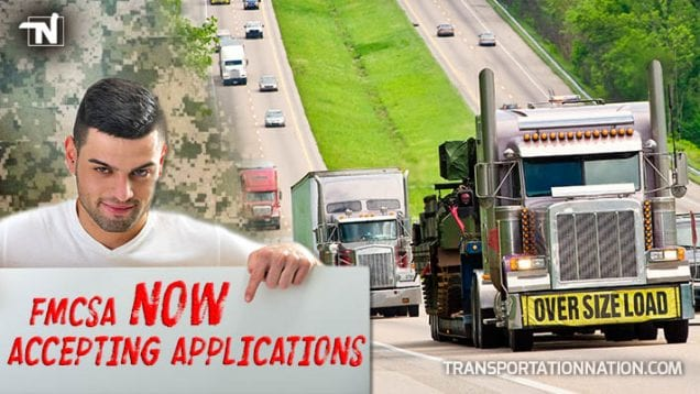 FMCSA is Now Acception Applications for the under 21 military pilot program
