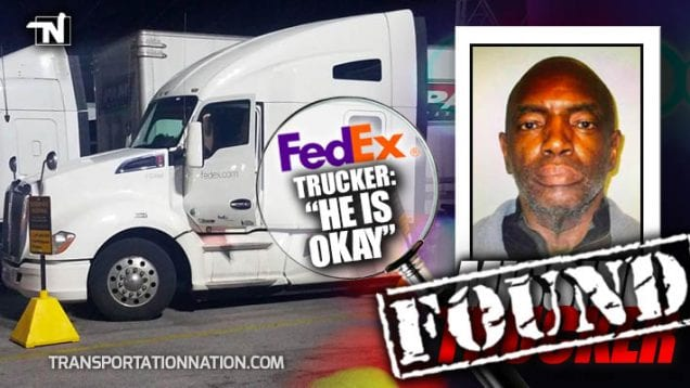 Missing Trucker – Bertram Moore – FedEx Driver – FOUND