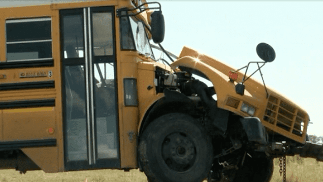 Nine Students And Trucker Injured After Big Rig and School Bus Collide