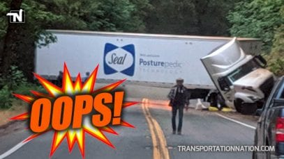Oops! Truck Driver Creates Mess on Road in California
