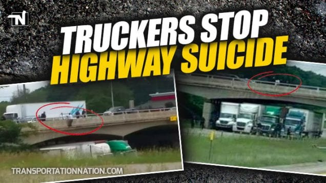 Truckers Stop Highway Suicide in Michigan