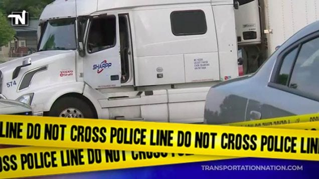 Body of man found in cab of big rig – Kentucky State Police say death is suspicious