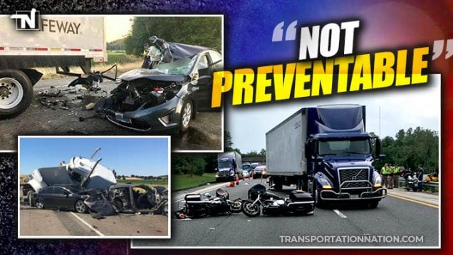 FMCSA proposes removal of not preventable crashes