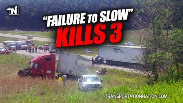 Failure to Slow Kills 3 on I-24 in Kentucky