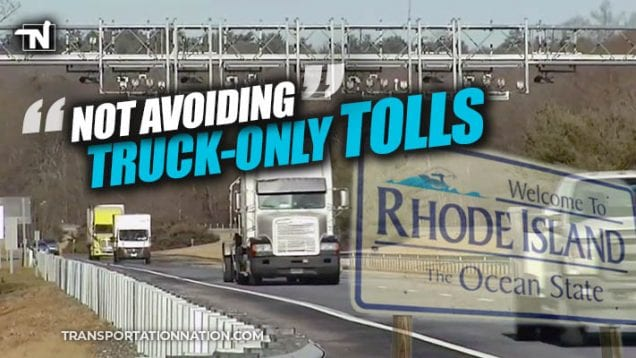 Not Avoiding Truck Only Tolls in Rhode Island