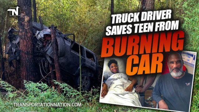 Truck Driver Saves Teen From Burning Car – Dwight Hawkins