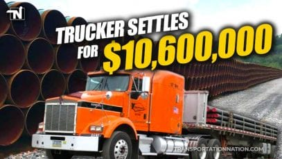 Trucker Settles for $10.6M after both legs amputated