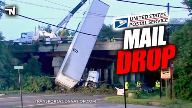 USPS Mail Truck Crash in New Jersey