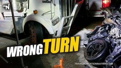 Wrong Turn – Motorist Dies After Turning into Path of Big RIg