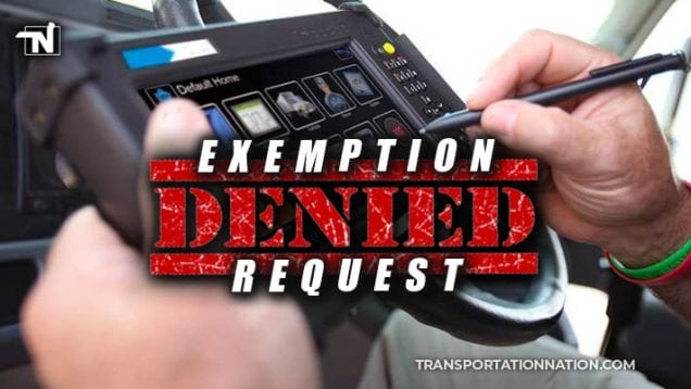 fmcsa denies sbtc eld exemption request