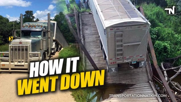 how it went down – bridge collapses under big rig in north dakota