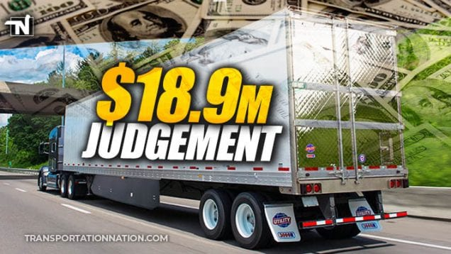 $18.9 judgement against utility trailer