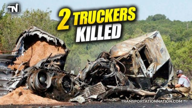 2 truckers killed in fiery crash in hico, texas