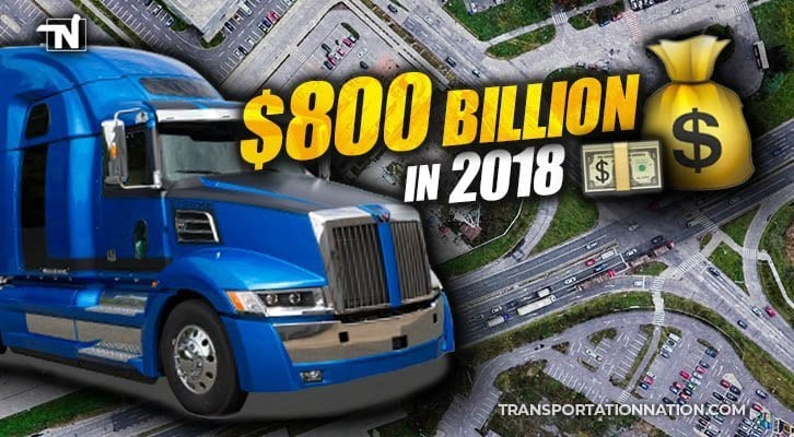 REPORT: Trucking Industry Revenue Jumped to Almost $800