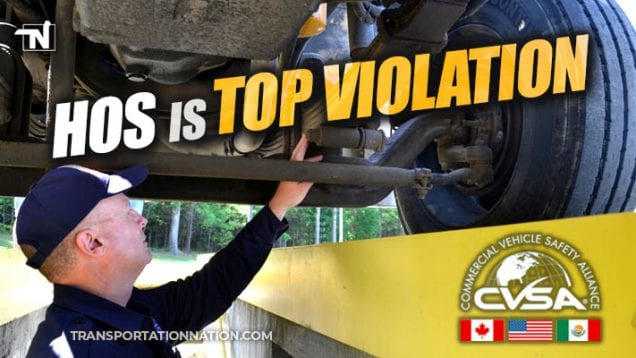 CVSA Enforcement Blitz – July 2019 – HOS is Top Violation
