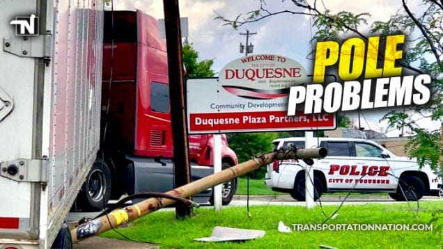 Drunk Trucker Knocks Down Poles in Pennsylvania