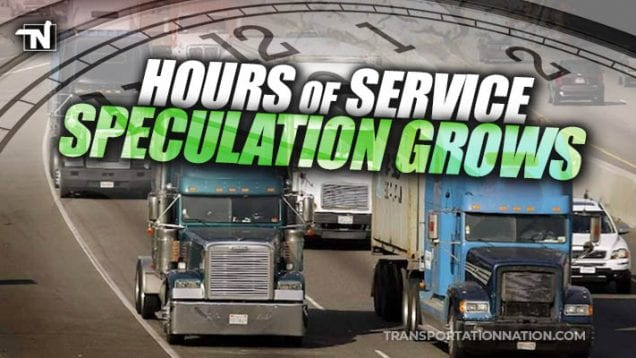 Hours of Service – SPECULATION GROWS – FMCSA