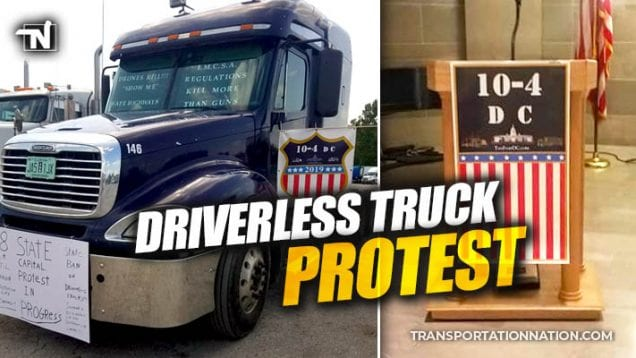 driverless truck protest in missouri