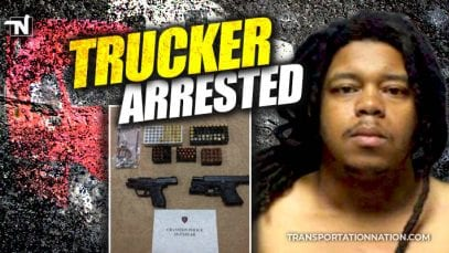 trucker arrested for threatening to shoot people on bicycles