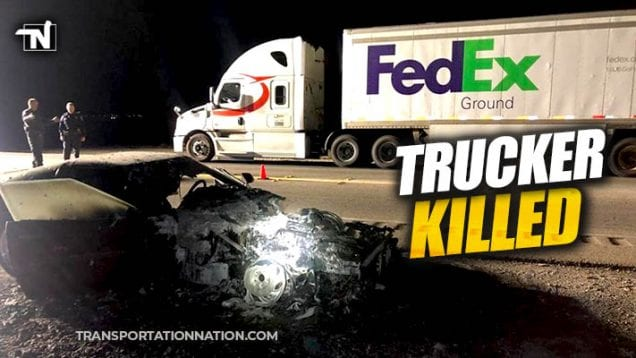 trucker killed in las vegas while trying to help a motorist