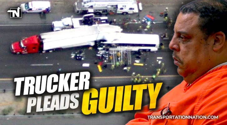 Trucker Pleads Guilty to 40 Charges in Semi vs Bus Crash