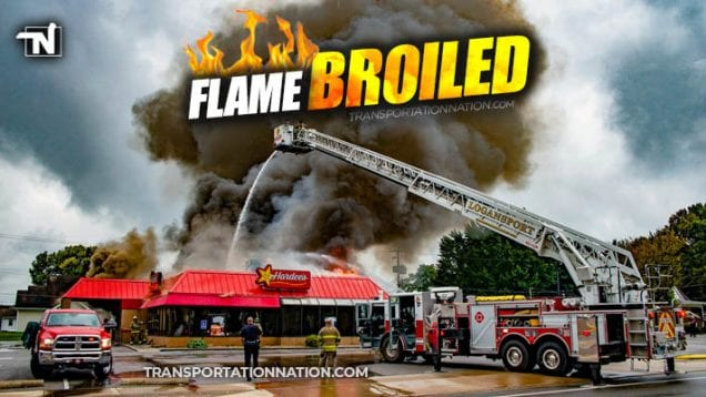 Hardees in Indiana Gets Flame Broiled