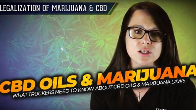 OOIDA – CBD Oils and Marijuana