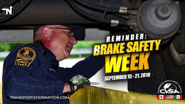 REMINDER – Brake Safety Week Coming Sep 15-21 2019