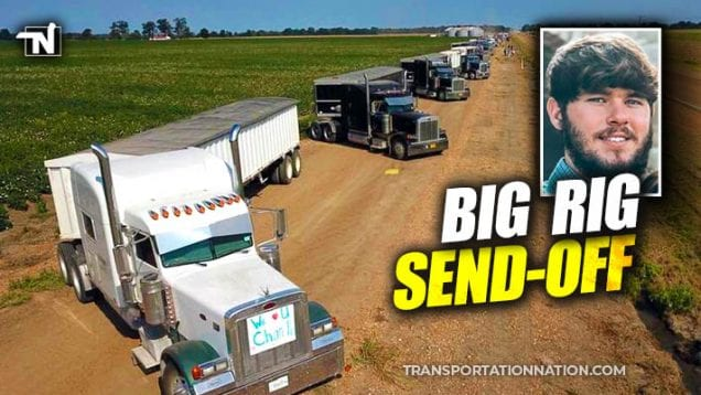 Truckers Show Support for Local Mississippi Man Diagnosed with Cancer